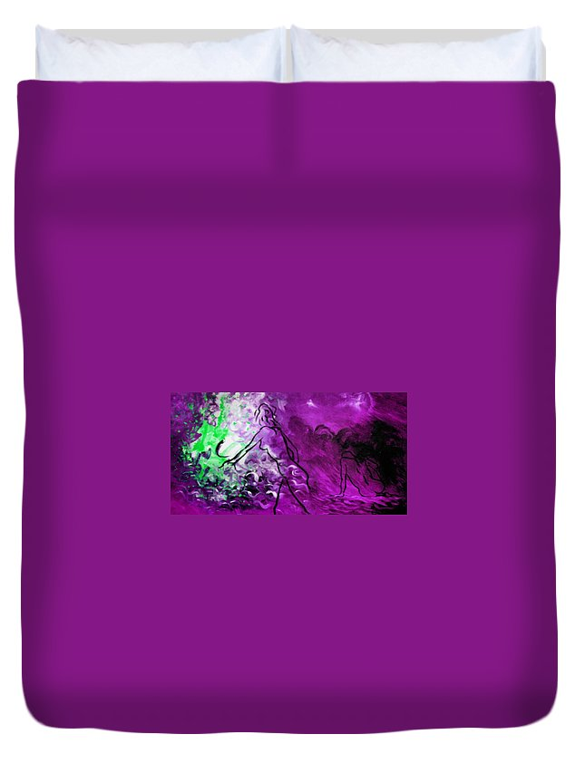 Genio Duvet Cover featuring the mixed media State Of Pink Mood by Genio GgXpress
