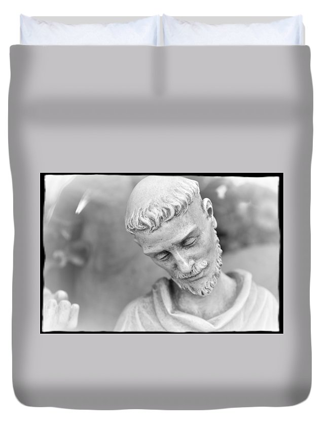 Religious Duvet Cover featuring the photograph Statue 2 by Jes Fritze