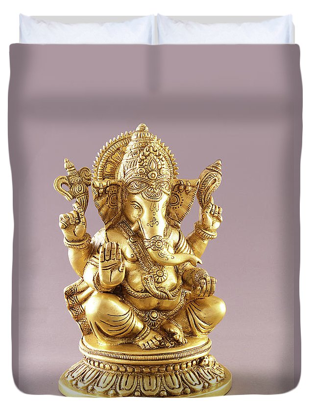 Spirituality Duvet Cover featuring the photograph Statue Of Lord Ganesh by Visage