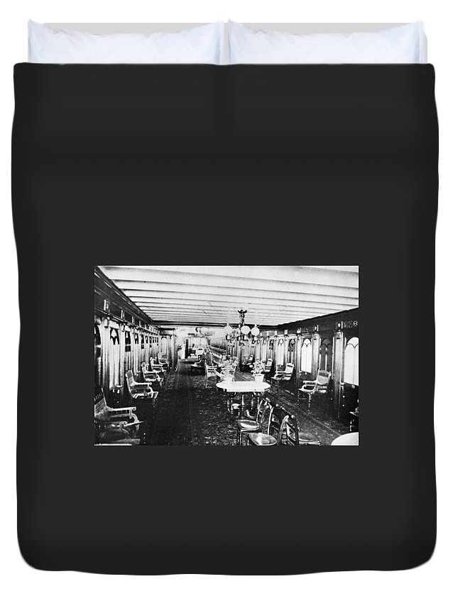 1867 Duvet Cover featuring the photograph Steamer Interior, C1867 by Granger