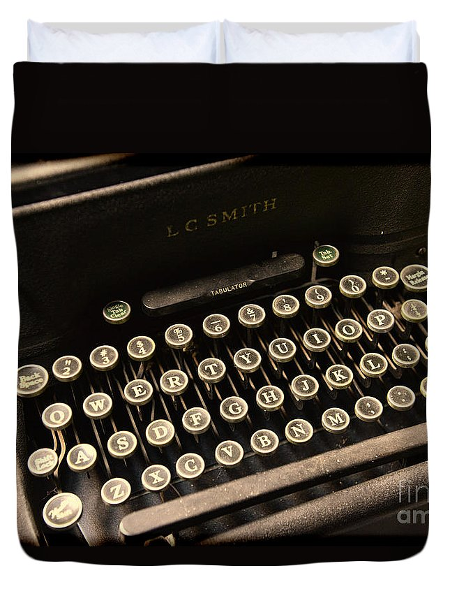 Steampunk Duvet Cover featuring the photograph Steampunk - Typewriter - The Age Of Industry by Paul Ward