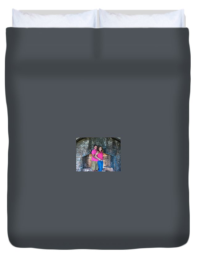 Portraits Duvet Cover featuring the photograph Stearns 4 by Mechala Matthews