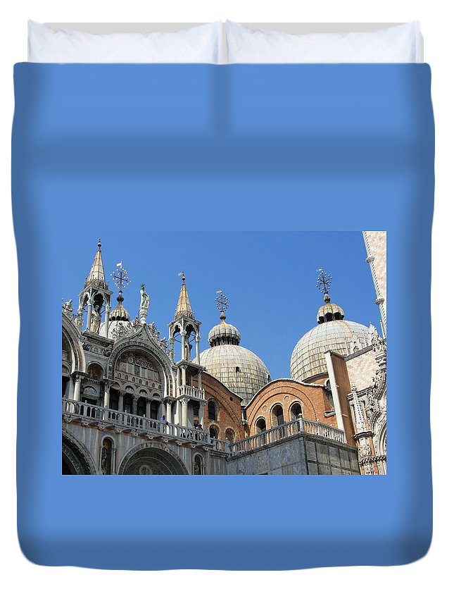 Steeples Duvet Cover featuring the photograph Steeples And Things by Natalie Ortiz