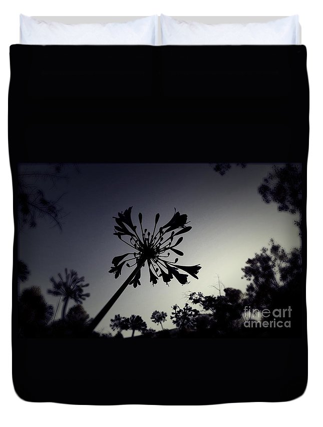 Silhouette Duvet Cover featuring the photograph Stencil Sky by Chris Phillips