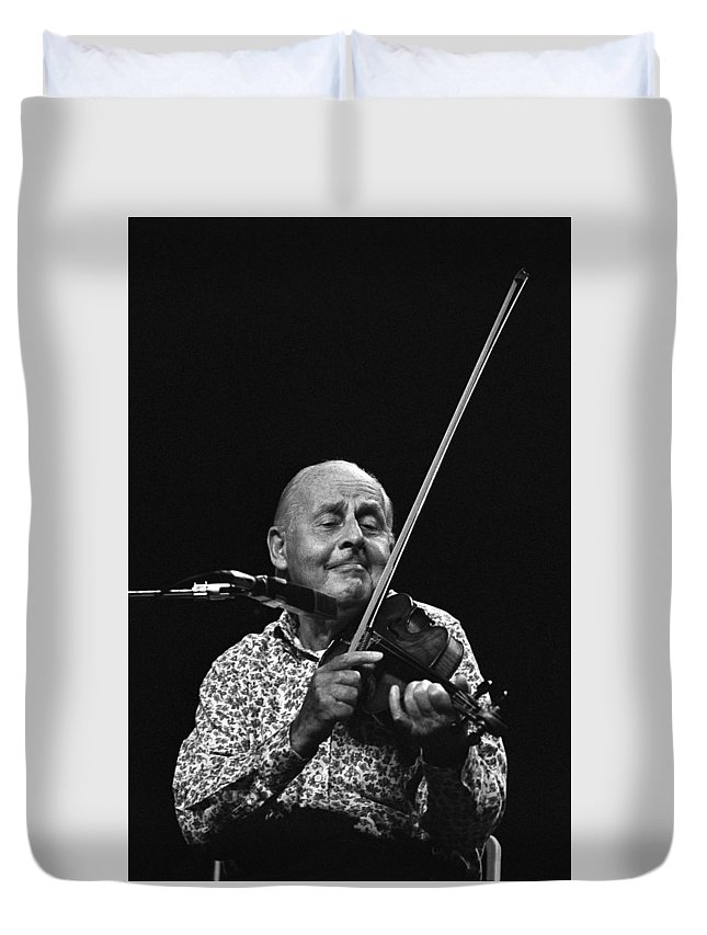 Stephane Grappelli Duvet Cover featuring the photograph Stephane Grappelli  by Dragan Kudjerski