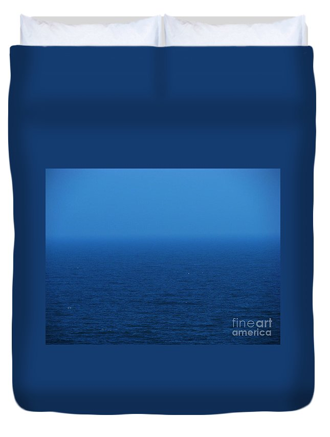 Blue Duvet Cover featuring the photograph Stepping Into A Dream by Amanda Barcon