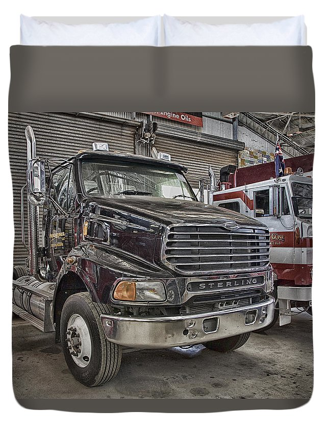 Sterling Truck Duvet Cover featuring the photograph Sterling Truck by Douglas Barnard