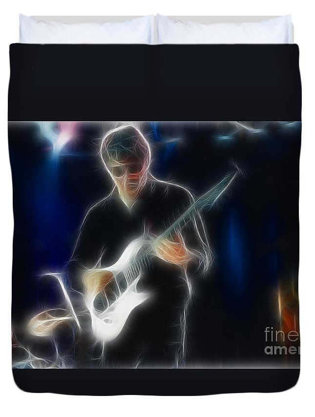 Music Duvet Cover featuring the photograph Steve Miller Gb27 Fractal by Gary Gingrich Galleries