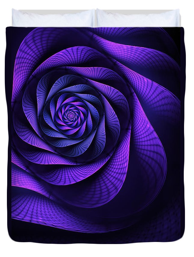 Art Nouveau Flower Duvet Cover featuring the digital art Stile Floreal by John Edwards