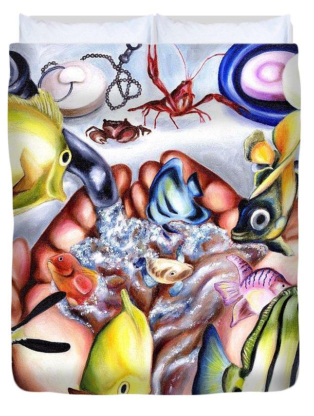 Dream Duvet Cover featuring the painting Still Drunk by Hiroko Sakai