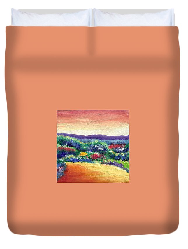 Still I Fly Duvet Cover featuring the painting Still I Fly by Shannon Grissom