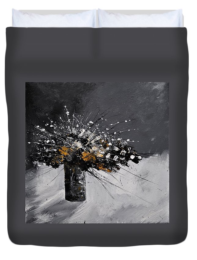 Flowers Duvet Cover featuring the painting Still Life 44 by Pol Ledent