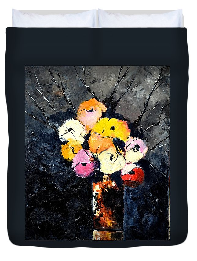 Stil Life Duvet Cover featuring the painting Still Life 563160 by Pol Ledent