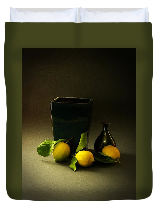 Still Life With Lemons Duvet Cover featuring the photograph Still Life With Lemons by Frank Wilson