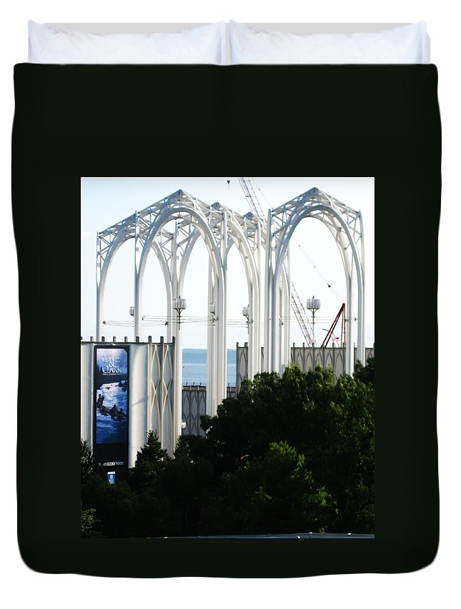 Seattle Duvet Cover featuring the photograph Still Under Construction by David Trotter