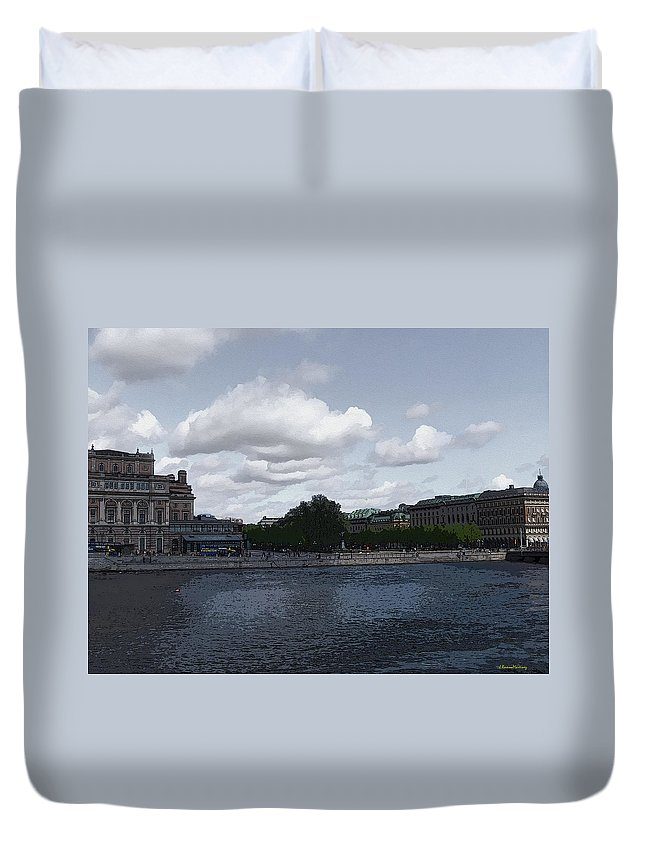 Stockholm Duvet Cover featuring the photograph Stockholm Graphic by Ramon Martinez