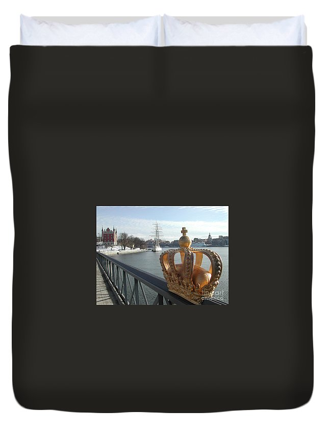 Stockholm Duvet Cover featuring the photograph Stockholm by Mats Silvan