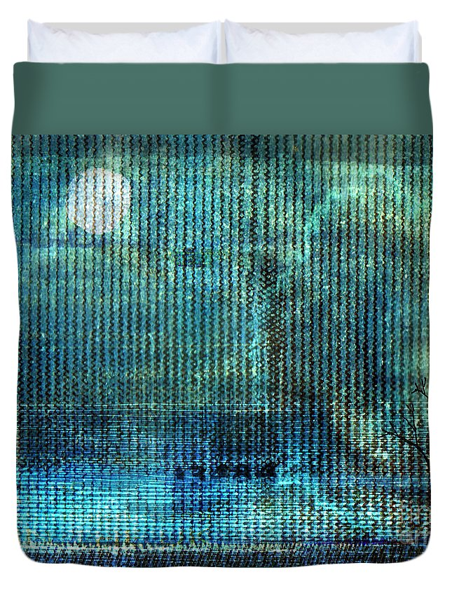 Moonscape Duvet Cover featuring the digital art Storm by Andy Mercer
