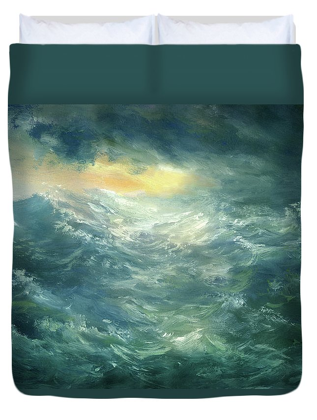 Scenics Duvet Cover featuring the digital art Storm Is Coming by Pobytov