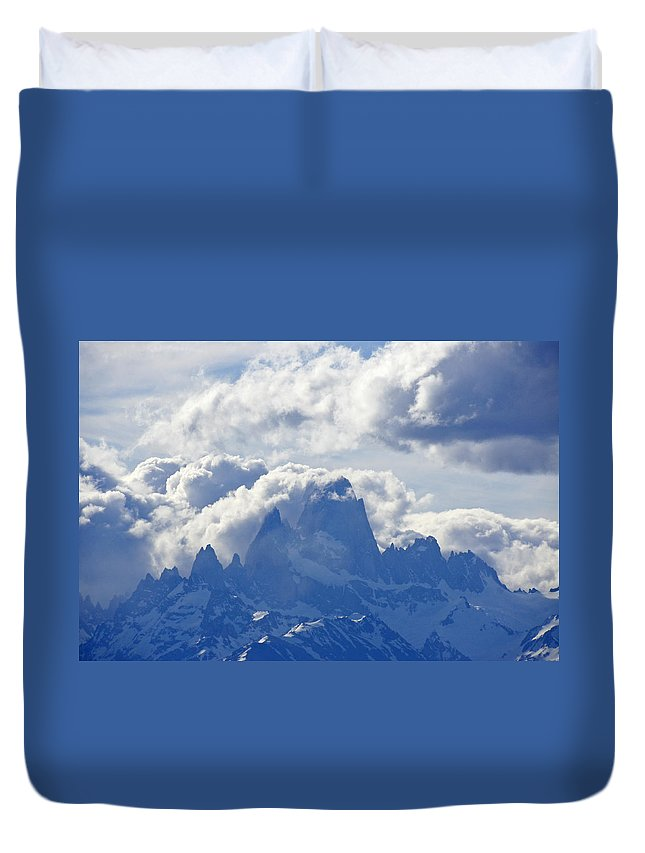 Argentina Duvet Cover featuring the photograph Storm Over Fitz Roy 1 by Michele Burgess