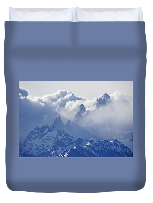 Argentina Duvet Cover featuring the photograph Storm Over Fitz Roy 2 by Michele Burgess