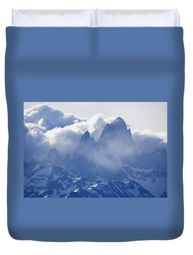 Argentina Duvet Cover featuring the photograph Storm Over Fitz Roy 3 by Michele Burgess