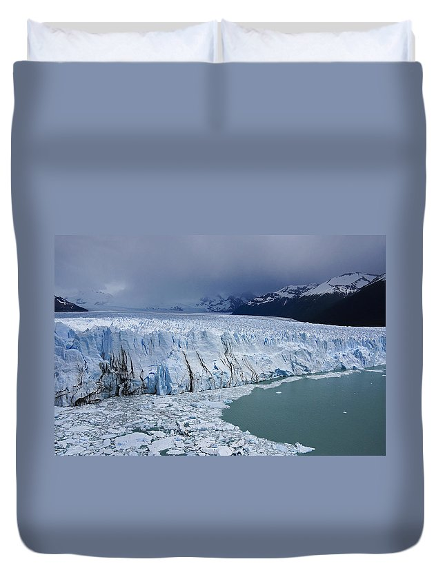 Argentina Duvet Cover featuring the photograph Storm Over Perito Moreno by Michele Burgess