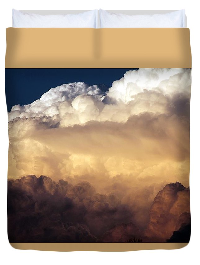 Cloud Duvet Cover featuring the photograph Storm Rolling In by Linda Stewart
