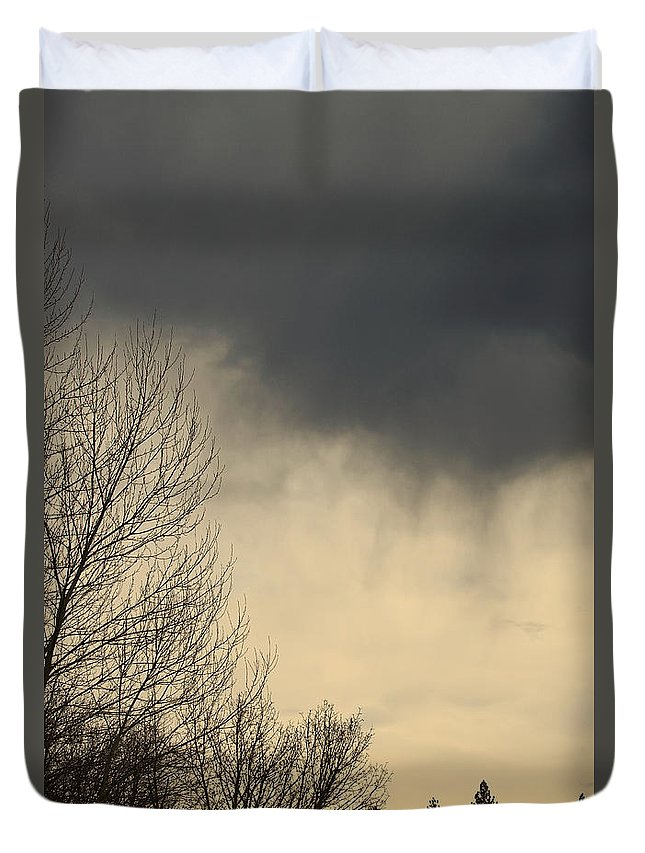 Storm Duvet Cover featuring the photograph Storm Virga Over Rogue Valley by Mick Anderson