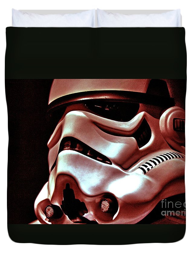 Stormtrooper Duvet Cover featuring the photograph Stormtrooper Helmet 26 by Micah May