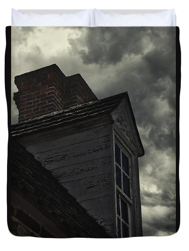 Outside Duvet Cover featuring the photograph Stormy Days by Margie Hurwich