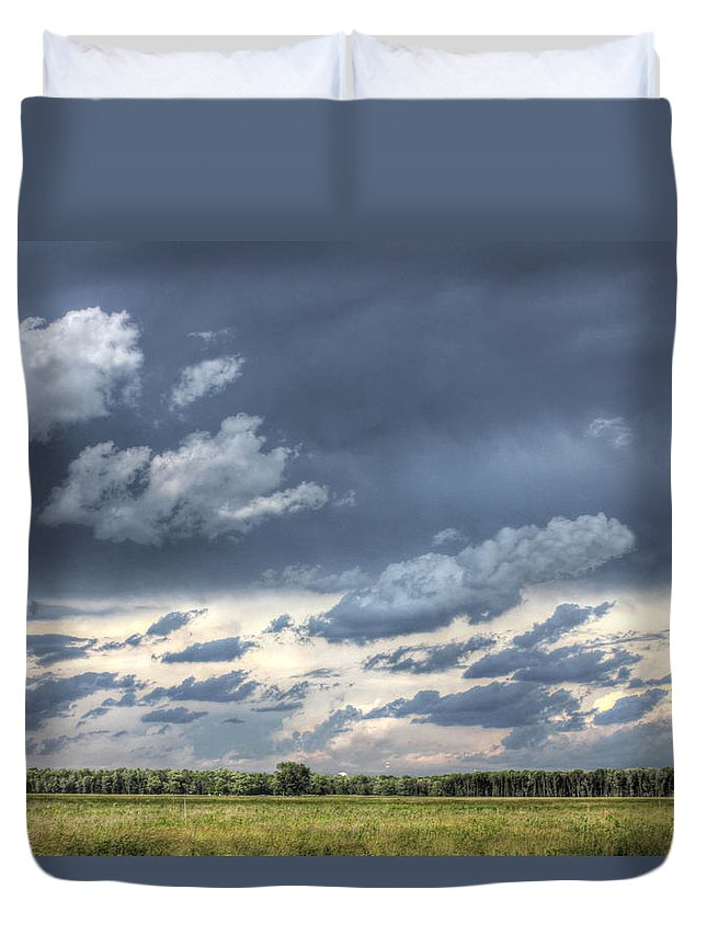 Hdr Photography Duvet Cover featuring the photograph Stormy Sky by Jackie Novak