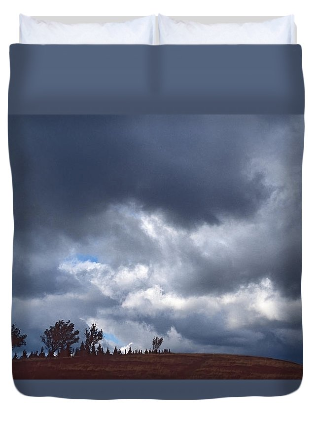 Stormy Sky Duvet Cover featuring the photograph Stormy Sky by Patrick Kessler