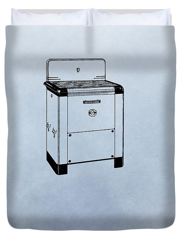 Stove Patent Duvet Cover featuring the digital art Stove Patent by Dan Sproul