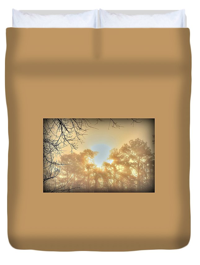 Sunrise Duvet Cover featuring the photograph Strangely Dim by Charlotte Schafer