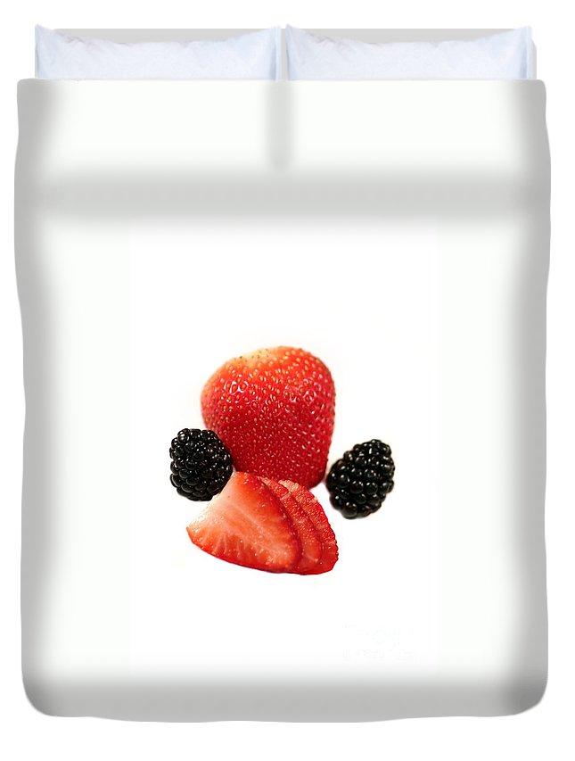 Fruit Duvet Cover featuring the photograph Strawberry Blackberry by Henrik Lehnerer