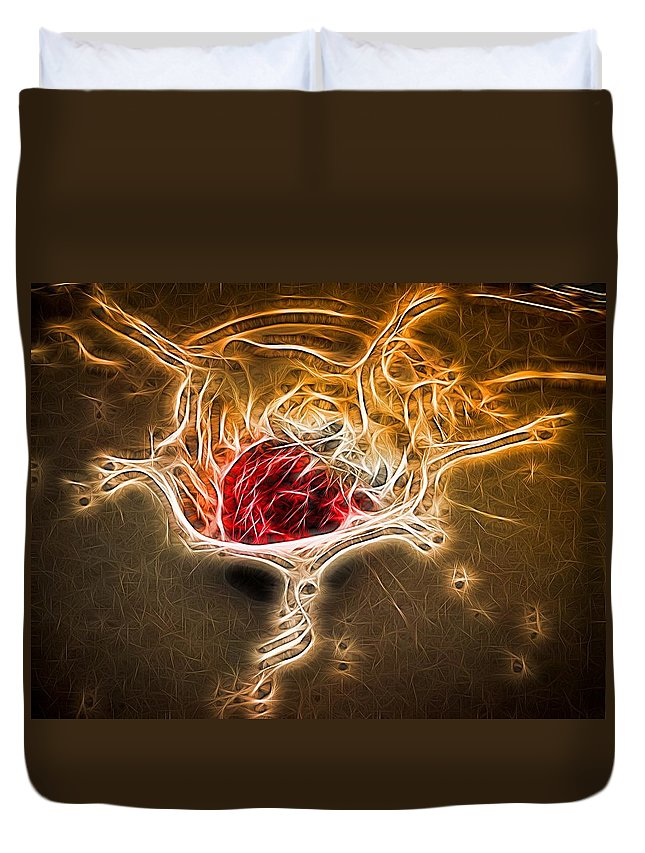 Strawberry Duvet Cover featuring the photograph Strawberry Splash - 2 by Becca Buecher
