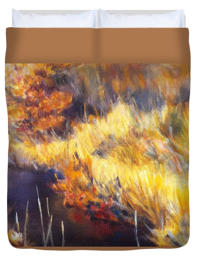 Stream Duvet Cover featuring the painting Stream by Kendall Kessler
