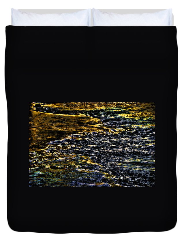 River Duvet Cover featuring the photograph Streaming Sensation by Steven Richardson