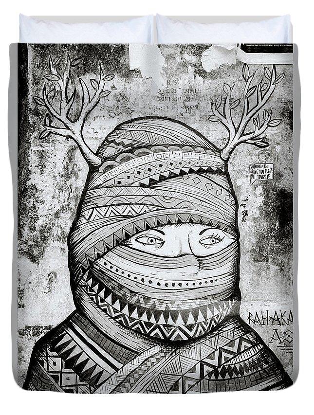 Graffiti Duvet Cover featuring the photograph Mysterious Cochin by Shaun Higson
