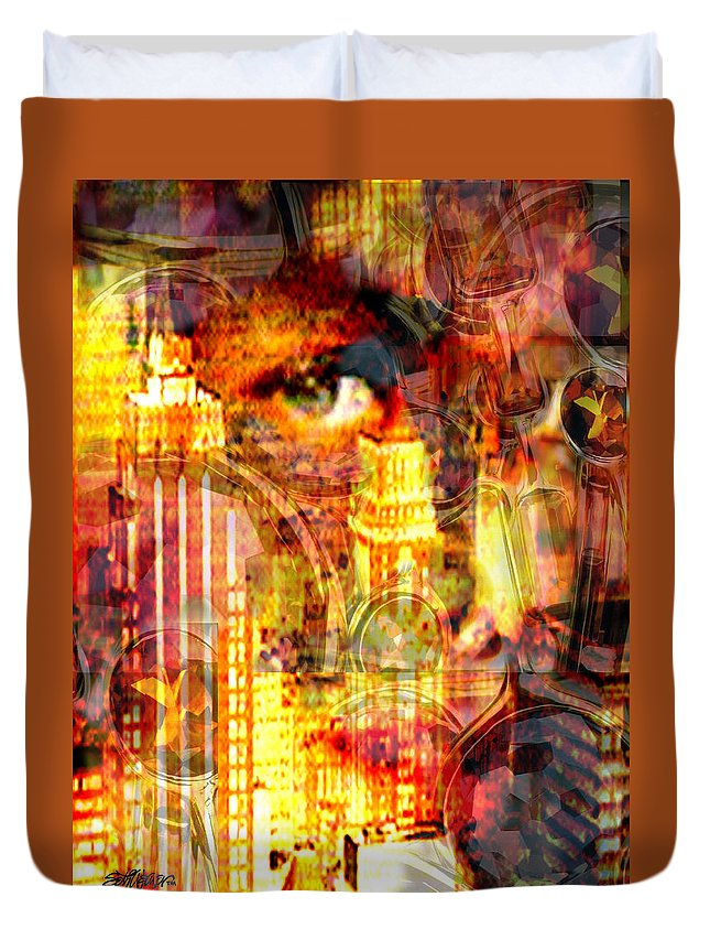 Big City Duvet Cover featuring the photograph Streetwalker by Seth Weaver