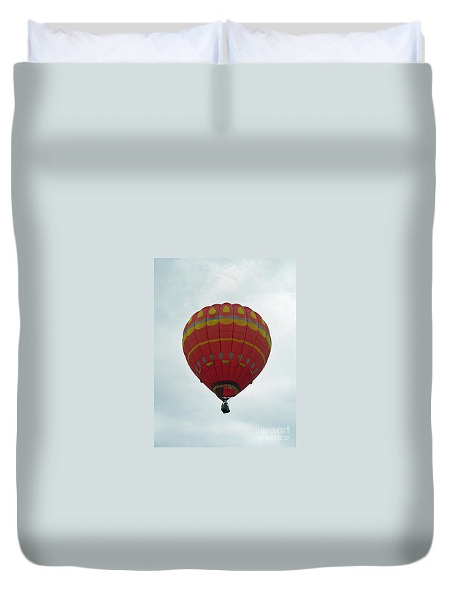 Hot Air Balloons Duvet Cover featuring the photograph Striking by Jamie Smith
