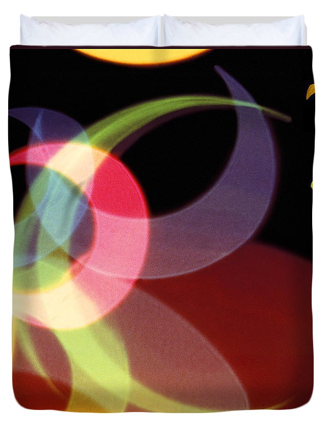 Abstract Duvet Cover featuring the photograph String Of Lights 1 by Mike McGlothlen
