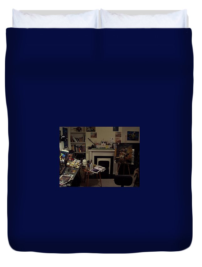 Duvet Cover featuring the photograph Savannah 9studio by Jude Darrien