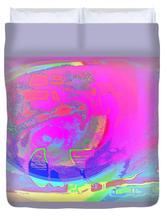 Submarine Duvet Cover featuring the photograph We All Live In A Pink Submarine by Hilde Widerberg