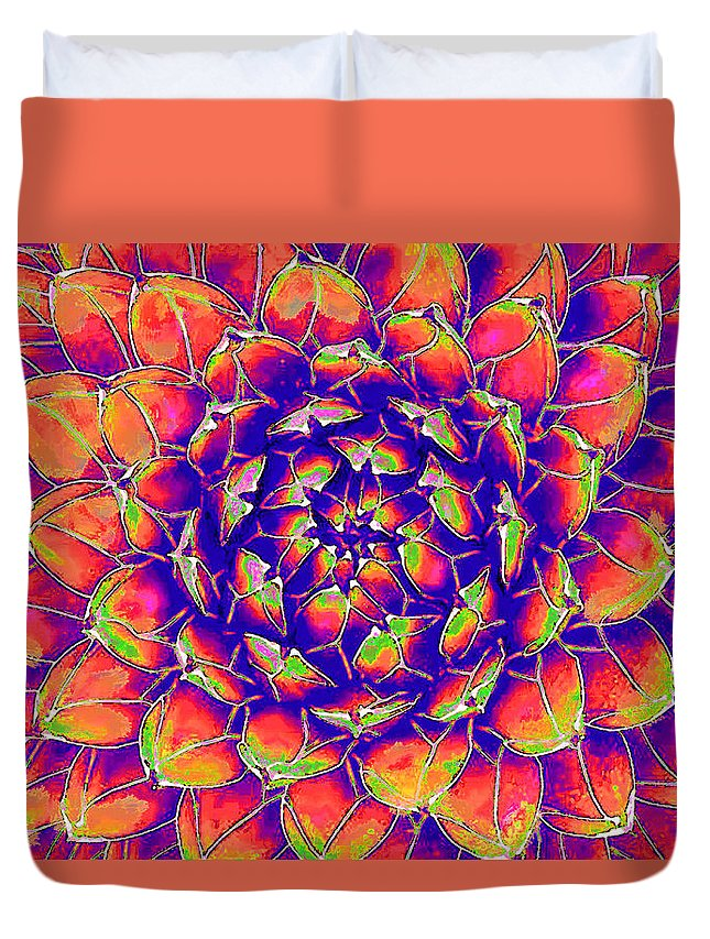 Succulent Duvet Cover featuring the digital art Succulent 7 by Jane Schnetlage