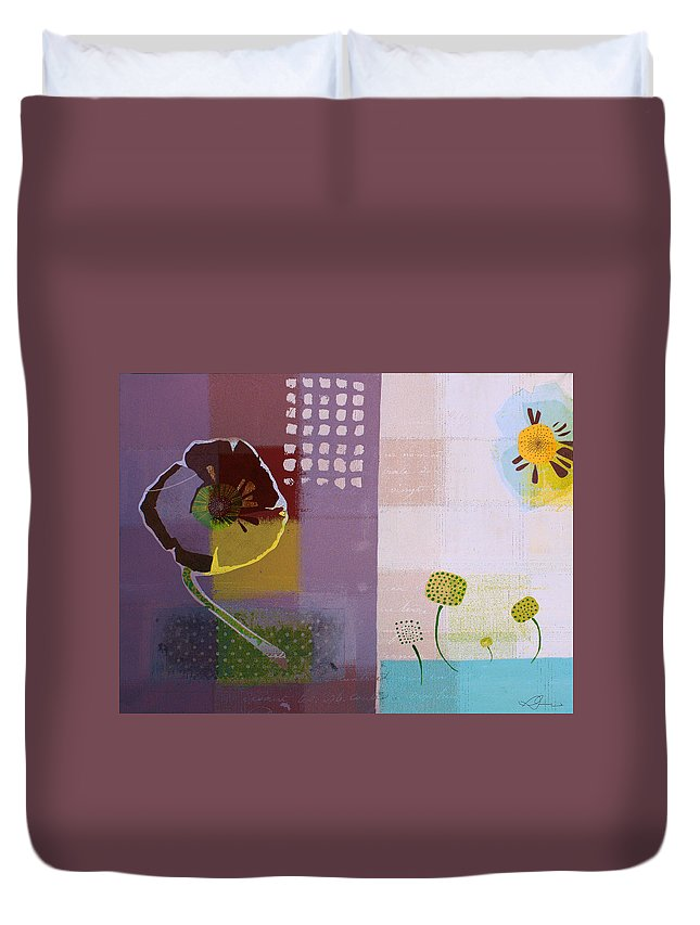 Mauve Duvet Cover featuring the painting Summer 2014 - J103112106ecpp by Variance Collections