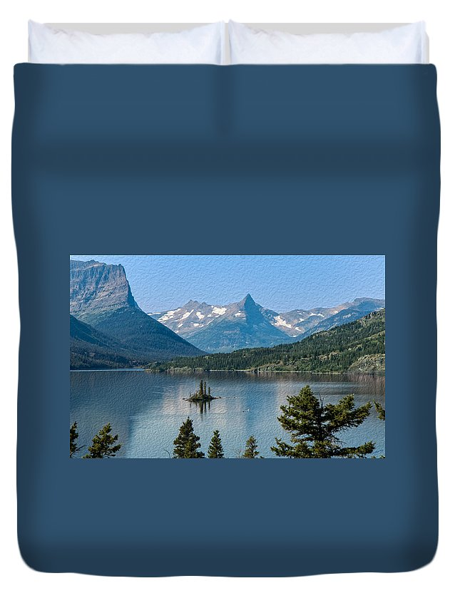 Landscape Duvet Cover featuring the photograph Summer At Glacier National Park by John M Bailey