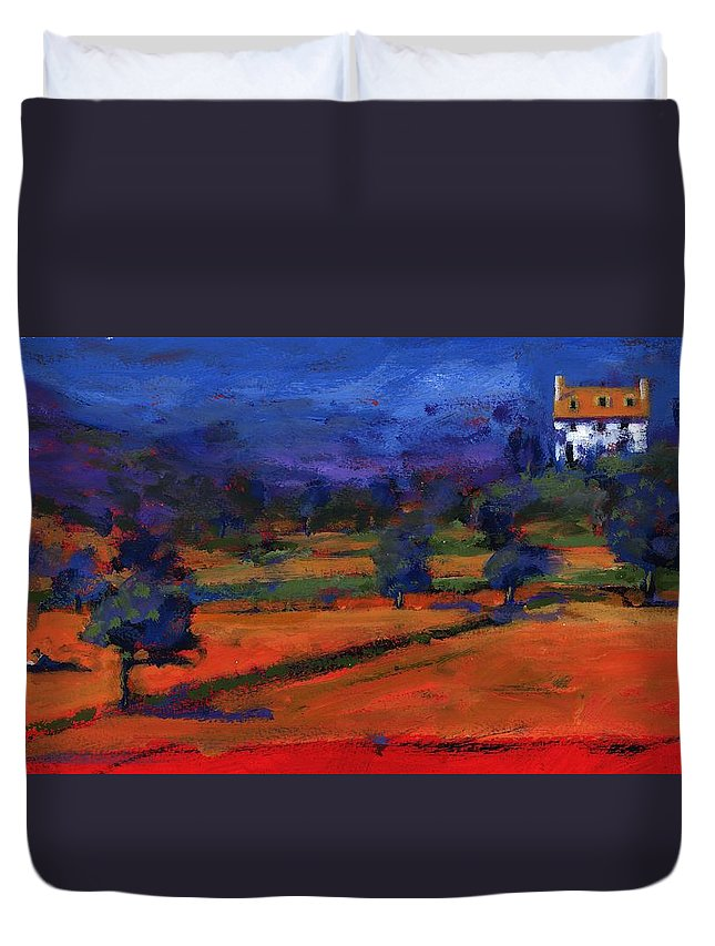 Picnic Duvet Cover featuring the photograph Summer At The White House by Paul Powis