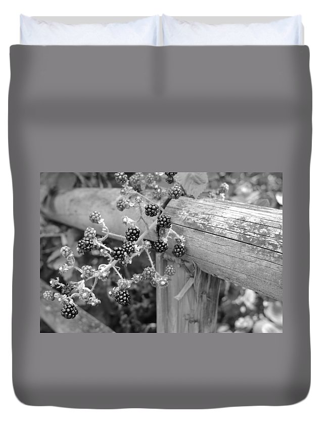 Miguel Duvet Cover featuring the photograph Summer Berries by Miguel Winterpacht